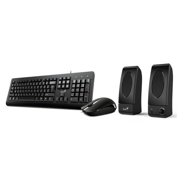 KMS-U130, Genius Keyboard/Mouse/Speaker Combo, Black,USB