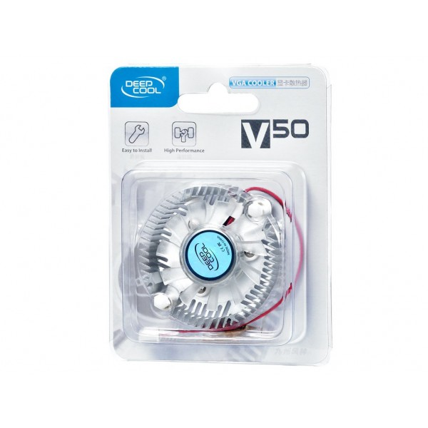 V50, Deepcool, VGA Cooler, NVIDIA 4Ti4200/4800,FX 5900/6200/6600/7300GS/7300GT/7600GS/8500 20dB(A)