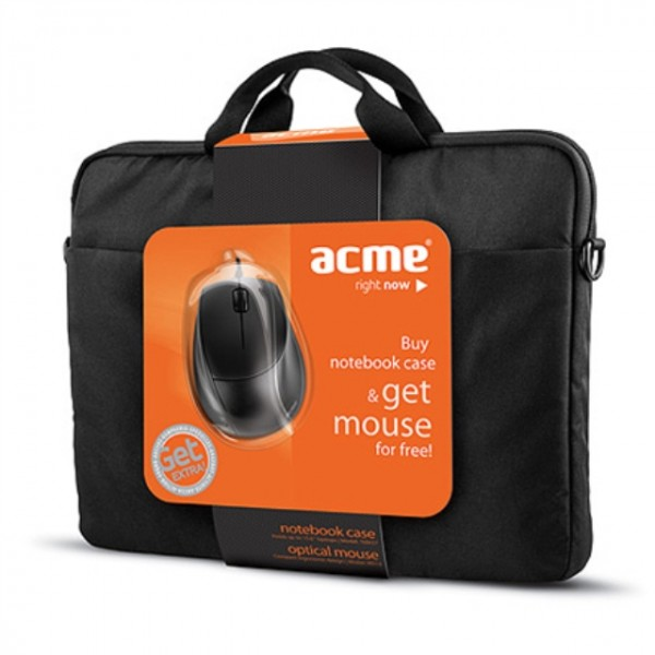 ACME 16M37 Notebook case   MS13 Optical mouse
