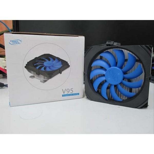 V95, Deepcool, VGA Cooler, NVIDIA, ATI, 100mm fan; 43/53/55/80mm mounting holes 25.2dB(A)