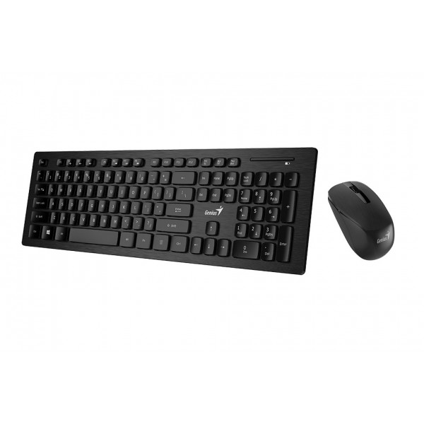 კლავიატურა SlimStar 8008, Genius Wireless Slim Keyboard   Mouse, USB Black