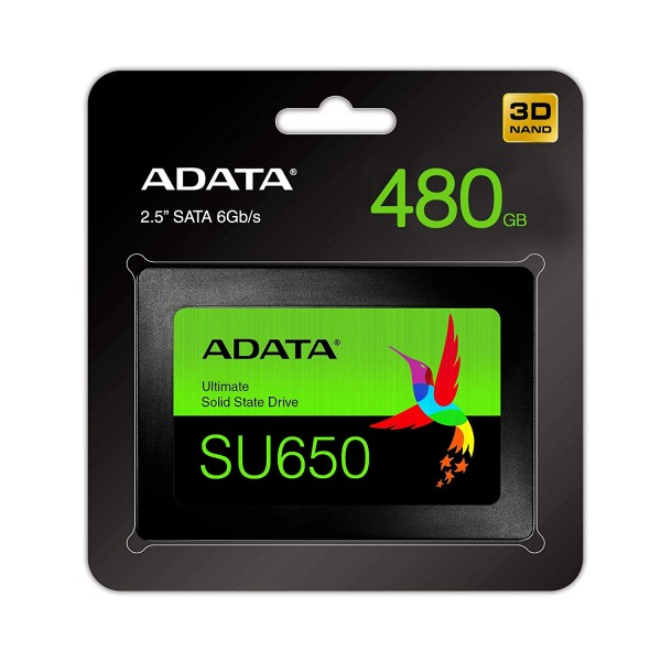 მყარი დისკი ASU650SS-480GT-R  ADATA , Sata 3.0 480GB SSD 6Gb/s,  R/W  Up to 520 / 450MB/s