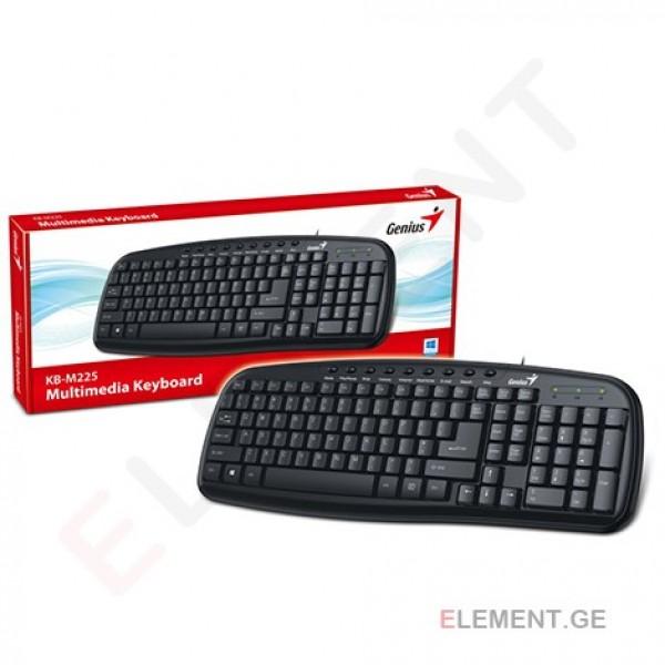 კლავიატურა KB-M225, Genius, Keyboard, USB Black