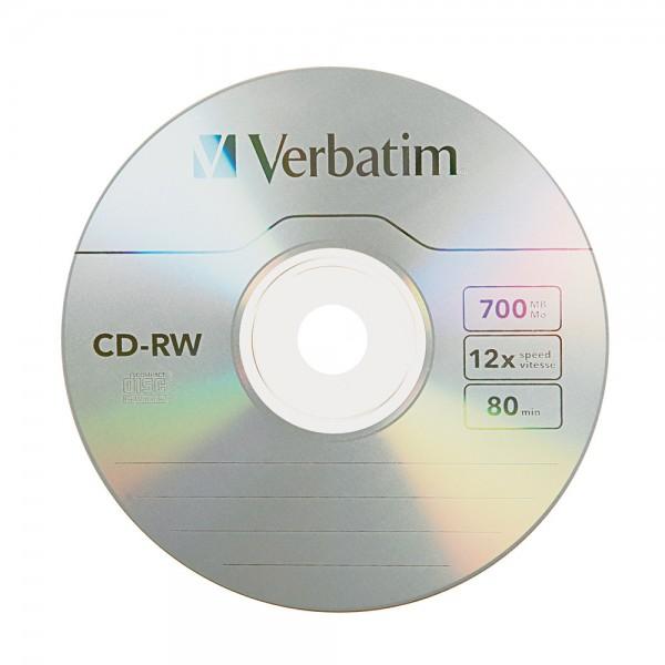შეკვრა დისკების 10-ცალიანი CD-RW (43480/შ) 10PK Spindle Verbatim 023942434801