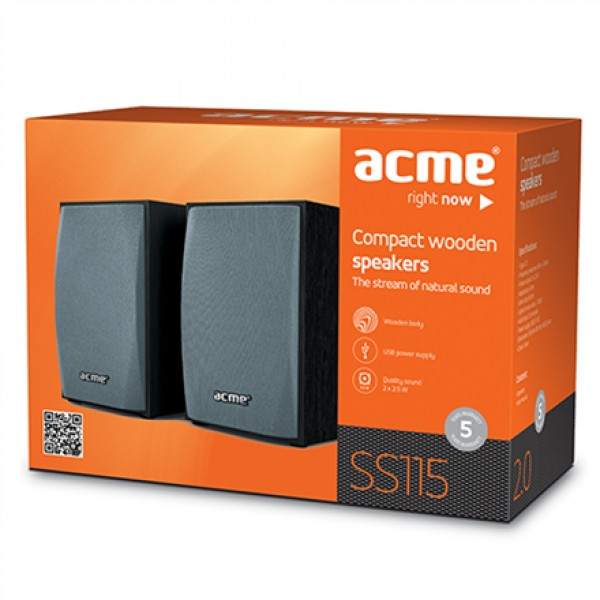 ACME SS115 Compact wooden speakers