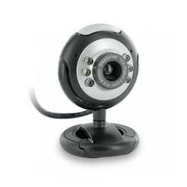 W-003 Webcam 0.3MP Silver/Black with Mic USB/Blister