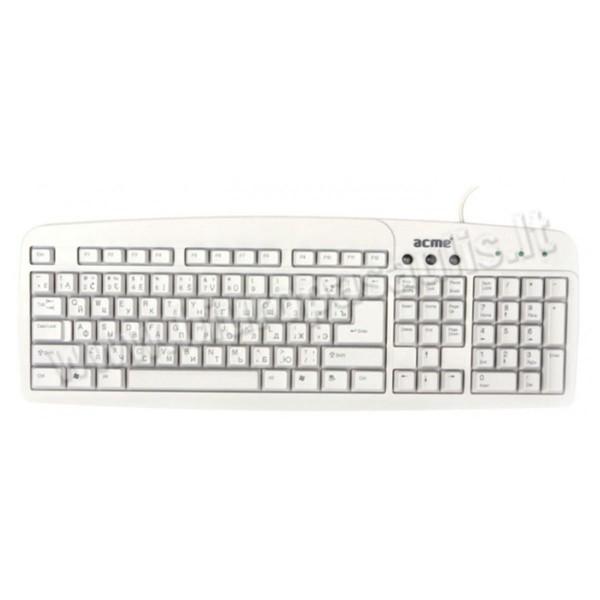 ACME KS01 standard keyboard /EN/RU/LT/White