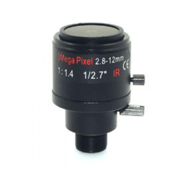 სამეთვალყურეო ვიდეო კამერის ლინზა/2.8-12mm Manual Iris manual varifocal /CS F1.6