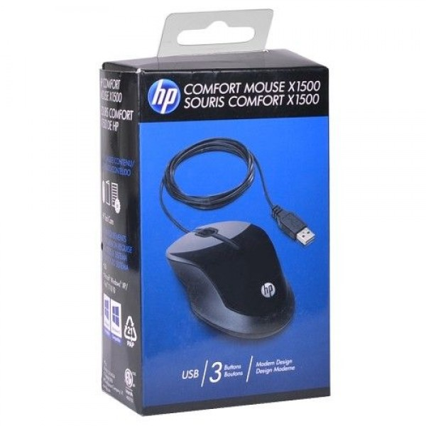 Mouse/ HP Mouse X1500 USB 3 buttons (H4K66AA)