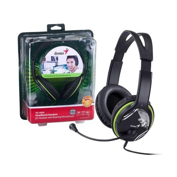 ყურსასმენი HS-400A Green, Genius