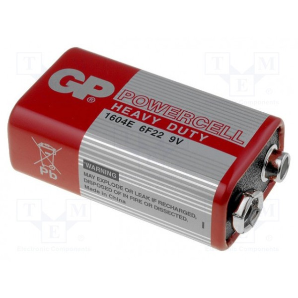 ელემენტი GPPVCS9VE004 1604ER-S1 POWERCELL 9.0V (6F22) GP 4891199033155