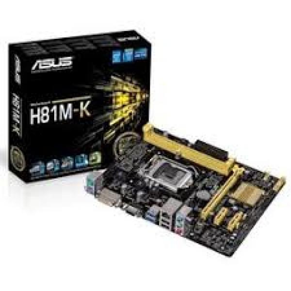 დედა დაფა H81M-K, Asus LGA 1150, H81, 1PCIX, 2PCIe, video