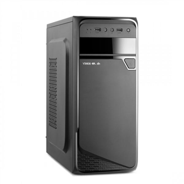 GF Goldenfield KILO 1 USB 2.0 x2, Mic x1, Spk x1, black, Midle-Tower, Power supply included 500W