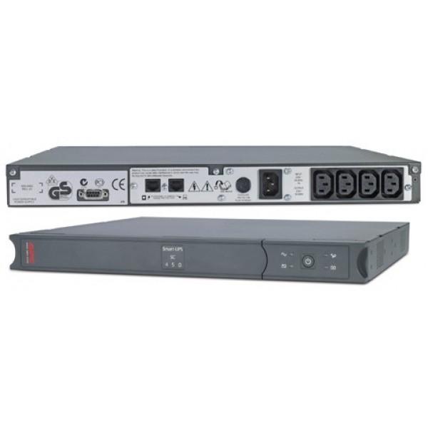 უწყვეტი კვების წყარო / APC Smart-UPS SC 450VA 230V - 1U Rackmount/Tower / SC450RMI1U