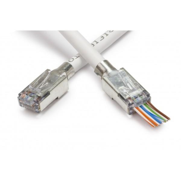 ქსელის აქსესუარი 8P/8C, LAN Connector, RJ45 6 CAT Grounded