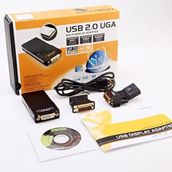 გრაფიკული ადაფტორი WS UG 19 D1-USB 2.0 TO DVI/VGA/HDMI MULTI-DISPLAY ADAPTER HD 1080P WINSTAR