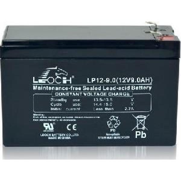 აკუმლიატორი LP12-9, LEOCH Rechargable Battery (12V9AH)